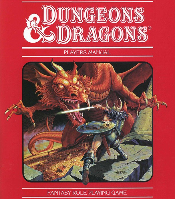 capa livro dungeons and dragons 1983