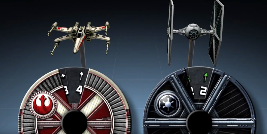 x-wings naves opcoes de movimentos