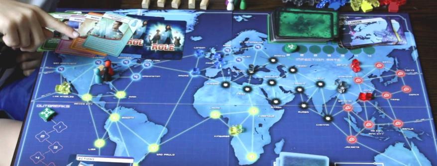 pandemic - o tabuleiro do jogo