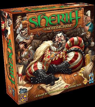 Sheriff of Nottingham - jogo de tabuleiro - caixa do jogo
