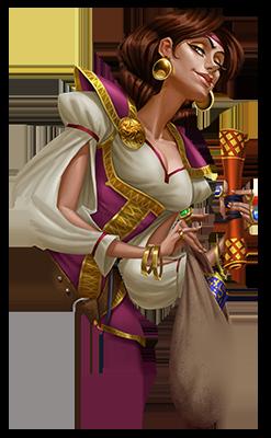 Sheriff of Nottingham - jogo de tabuleiro - personagem Adelaide