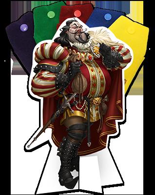 Sheriff of Nottingham - jogo de tabuleiro - personagem Xerife